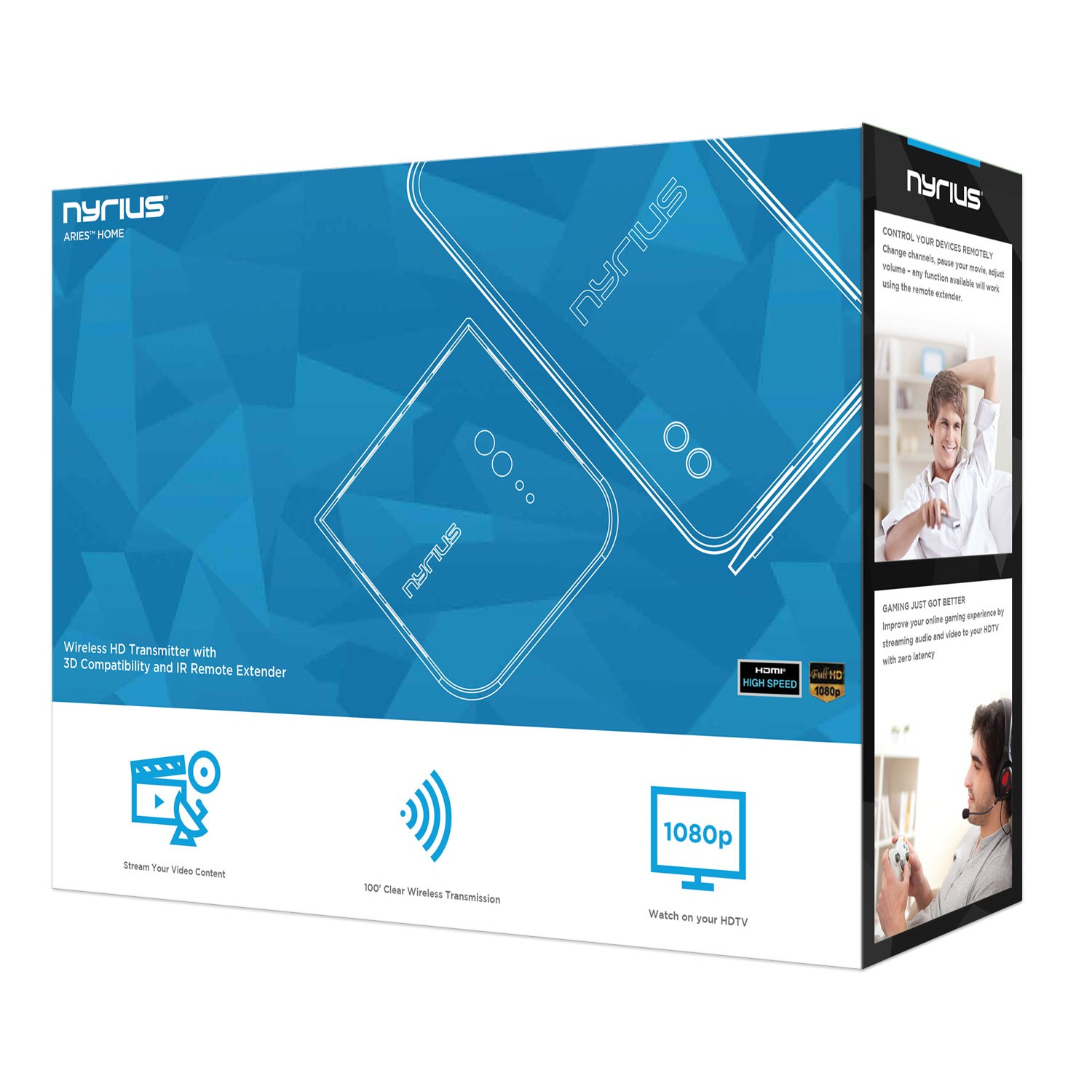 NAVS500 ARIES Home Wireless HD Digital Transmitter & Receiver | Nyrius