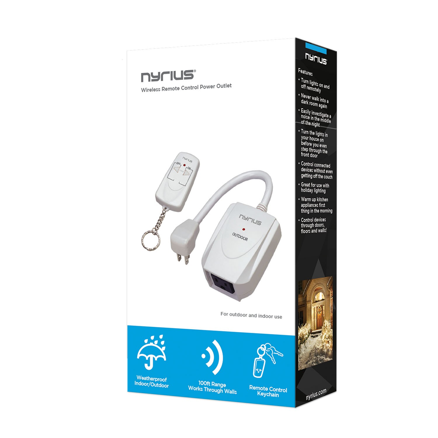 Remote Control Switch For Indoor And Outdoor Power Outlet Nyrius About 3way Digital Wireless Light Lamp On Off