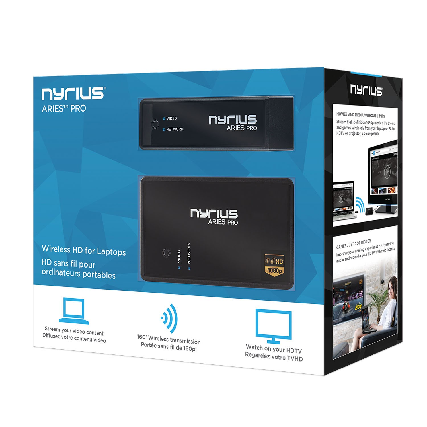 ARIES Pro Digital Wireless HDMI Transmitter and Receiver System | Nyrius